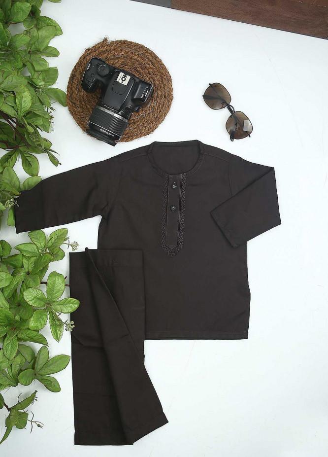 Sanaulla Exclusive Range Cotton Formal Kurta Shalwar for Kids -  C-758 Black