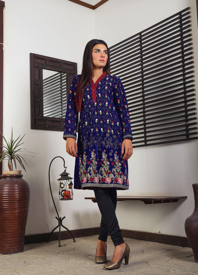 Sanaulla Exclusive Range Embroidered  Stitched Kurtis D-07