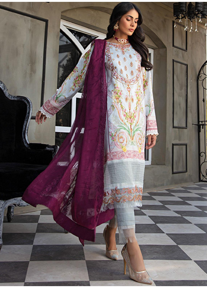 Sanaya Embroidered Lawn Suits Unstitched 3 Piece SNY21L Arona - Luxury Collection