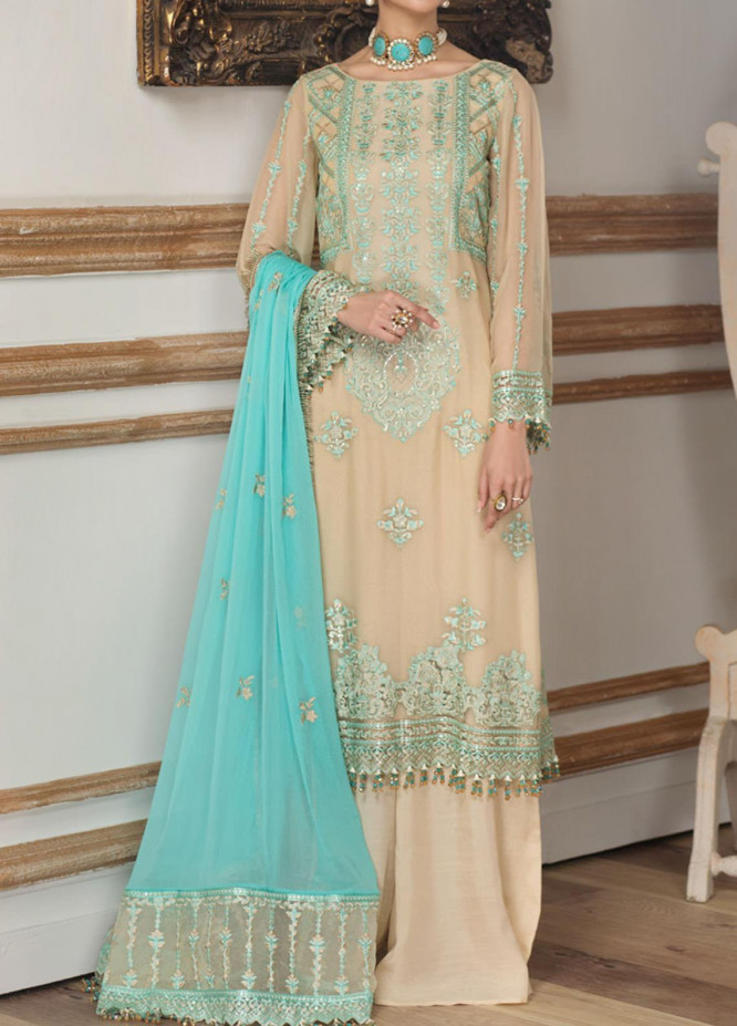 Sangat By Mohagni Embroidered Chiffon Unstitched 3 Piece Suit MO20S 05 - Luxury Collection