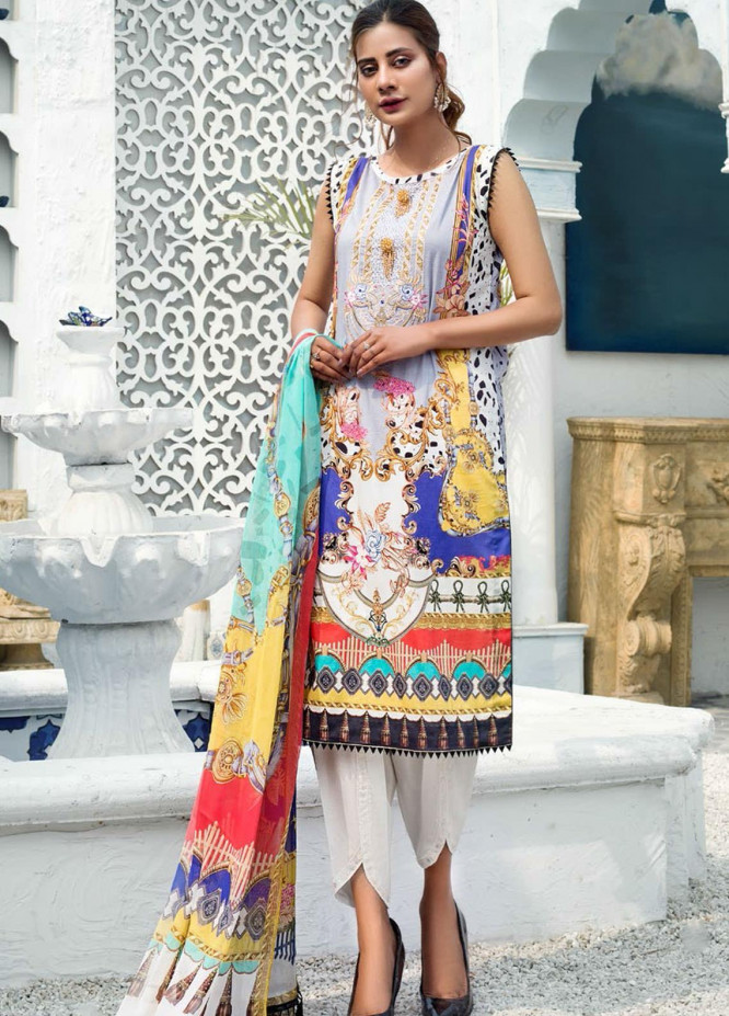 Sanoor by Noor Fatima Embroidered Lawn Suits Unstitched 3 Piece SN21SS D-260 - Summer Collection