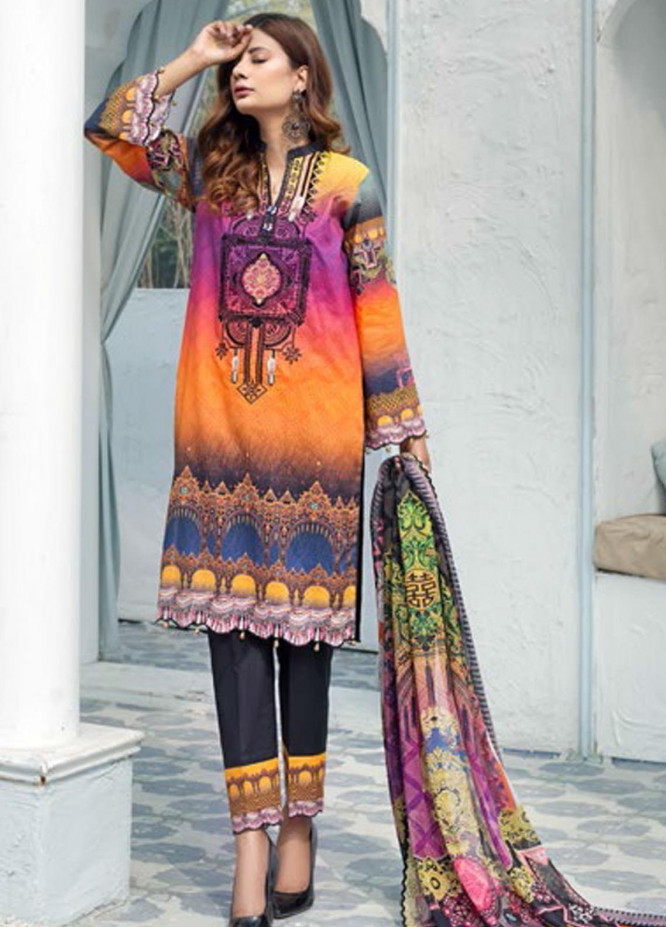 Sanoor by Noor Fatima Embroidered Lawn Suits Unstitched 3 Piece SN21SS D-261 - Summer Collection