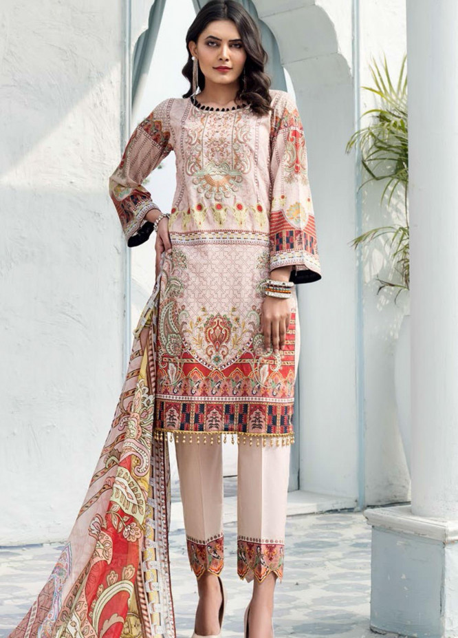 Sanoor by Noor Fatima Embroidered Lawn Suits Unstitched 3 Piece SN21SS D-271 - Summer Collection