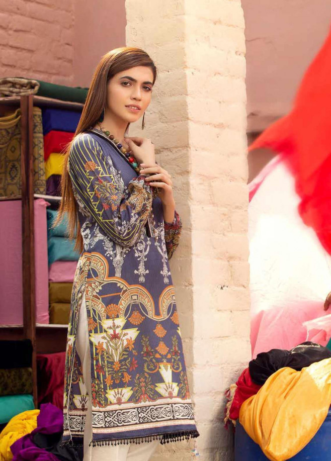 Sanoor by Noor Fatima Embroidered Lawn Unstitched Kurties SNO20M D-904 - Summer Collection