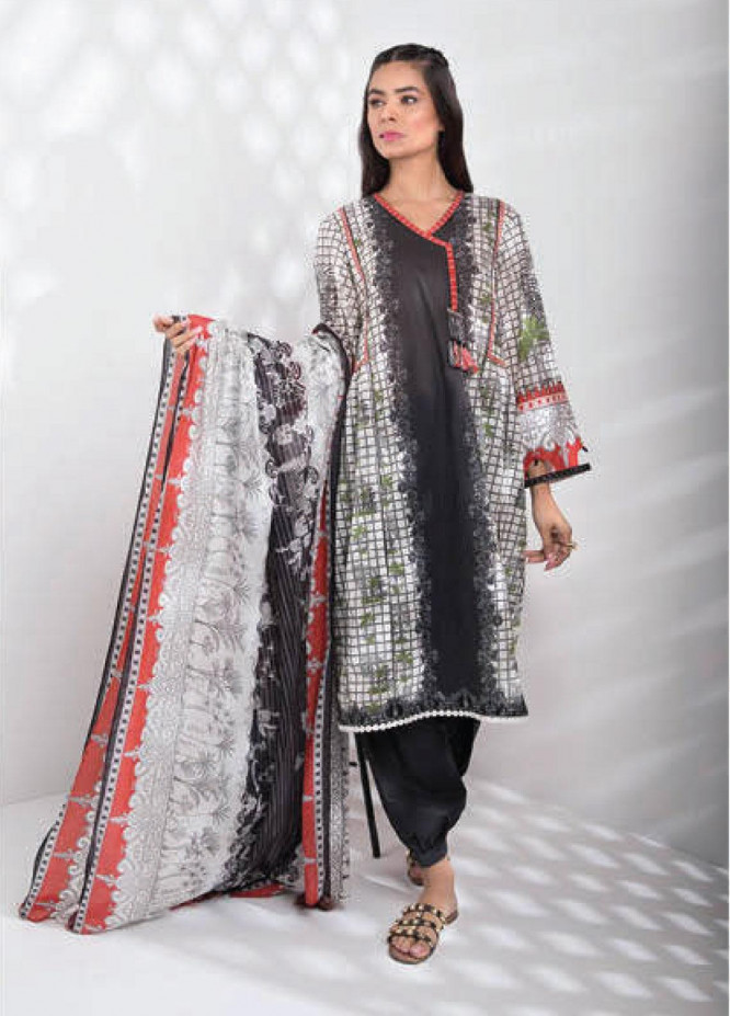 Sapphire Printed Lawn Unstitched 3 Piece Suit SP20L Tropical Harmony A - Spring / Summer Collection