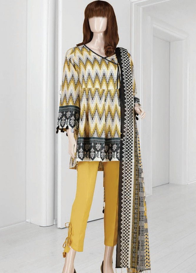 Mushk By Saya Printed Lawn Suits Unstitched 3 Piece SY21MUM-2108-11A OMNIA - Summer Collection