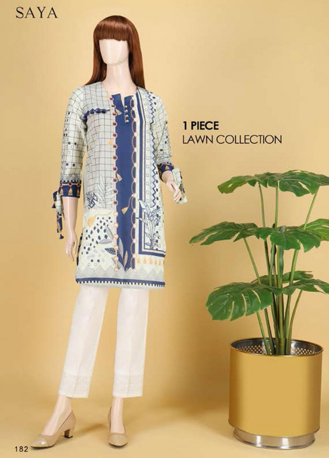 Saya Embroidered Lawn  Unstitched Kurties SY21SS BLOOMING BLISS (UB-2103-01B) - Spring / Summer Collection