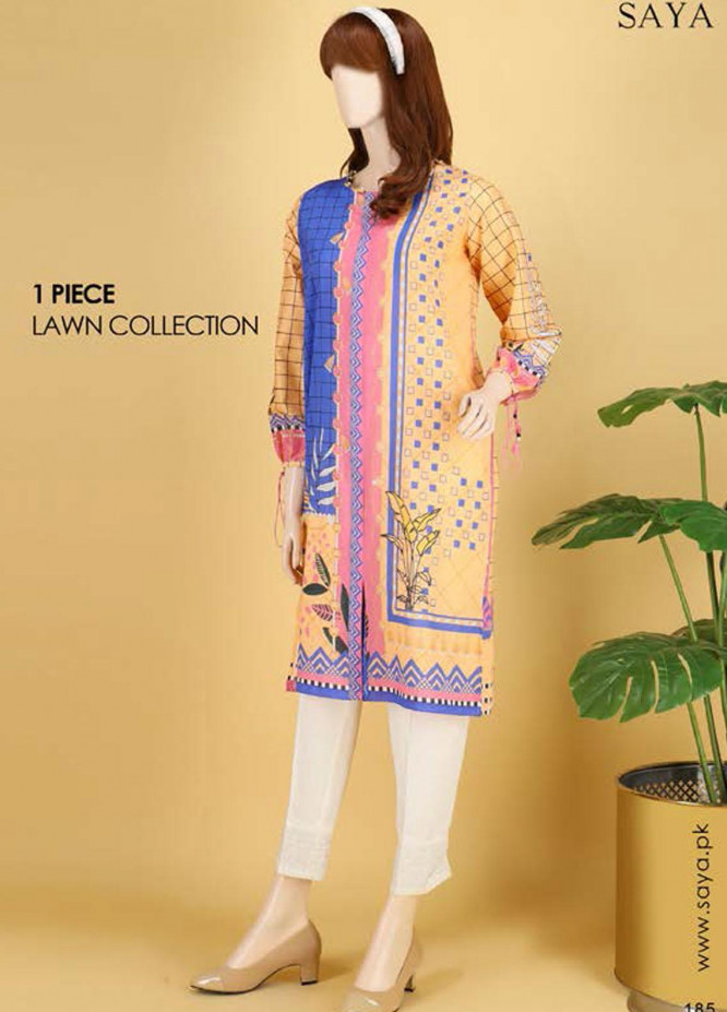Saya Embroidered Lawn  Unstitched Kurties SY21SS BLOOMING BLISS (UY-2103-01A) - Spring / Summer Collection
