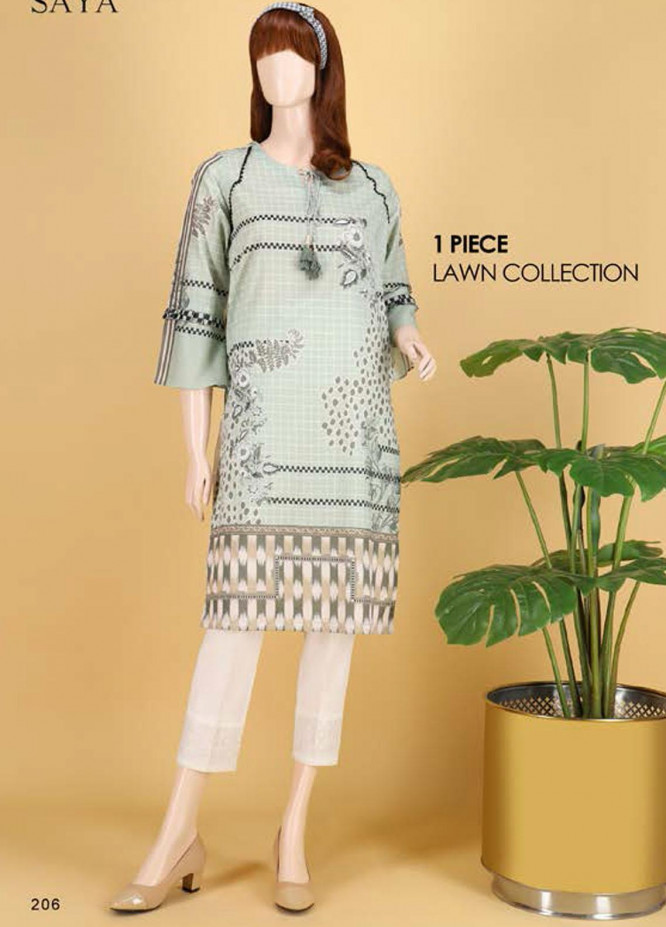 Saya Embroidered Lawn  Unstitched Kurties SY21SS FLORAL FANTASY(UG-2103-09B) - Spring / Summer Collection