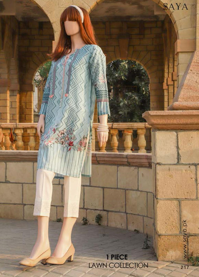 Saya Embroidered Lawn  Unstitched Kurties SY21SS FLUTTER BYE (UB-2103-13C) - Spring / Summer Collection