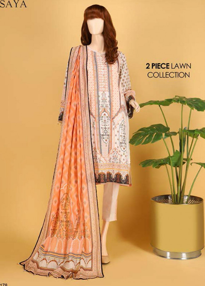 Saya Embroidered Lawn Suits Unstitched 2 Piece SY21SS JEWEL MYSTERY (UW-2023-25A) - Spring / Summer Collection