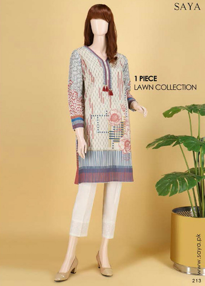 Saya Embroidered Lawn  Unstitched Kurties SY21SS NEUTRAL FRENZY (UB-2103-12B) - Spring / Summer Collection