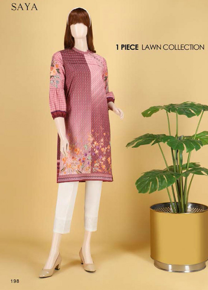 Saya Embroidered Lawn  Unstitched Kurties SY21SS OMBRE MADNESS (UP-2103-07C) - Spring / Summer Collection