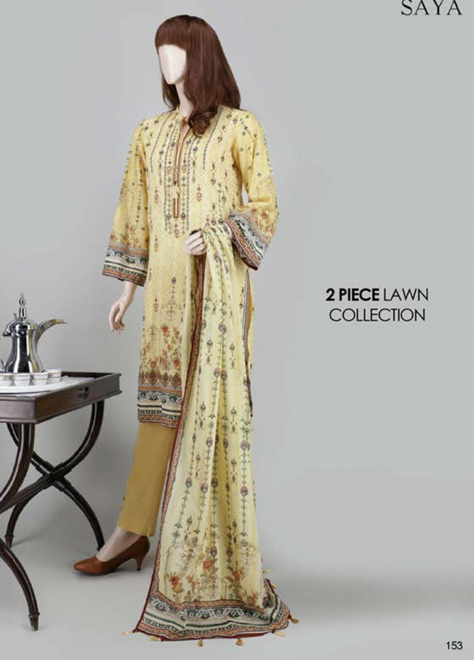 Saya Embroidered Lawn Suits Unstitched 2 Piece SY21SS PALE MADNESS (UY-2023-13A) - Spring / Summer Collection