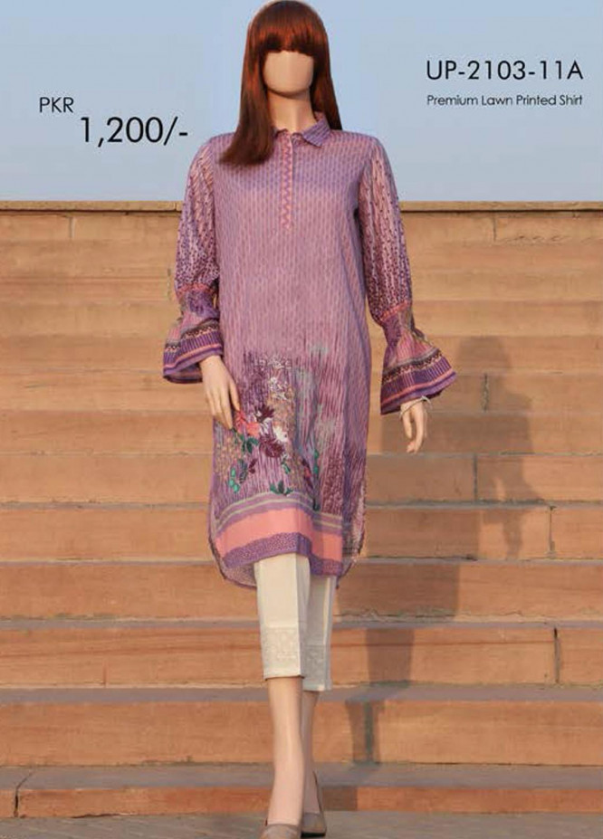 Saya Embroidered Lawn  Unstitched Kurties SY21SS PASTEL CHARM (UP-2103-11A) - Spring / Summer Collection