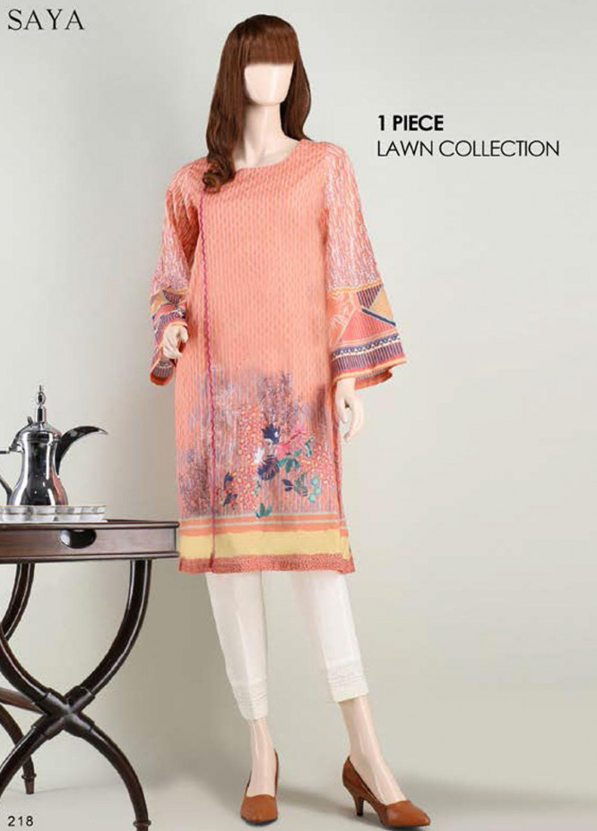 Saya Embroidered Lawn  Unstitched Kurties SY21SS PASTEL CHARM (UP-2103-11C) - Spring / Summer Collection