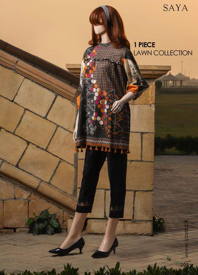 Saya Embroidered Lawn  Unstitched Kurties SY21SS RAZZLE DAZZLE (UB-2103-08A) - Spring / Summer Collection