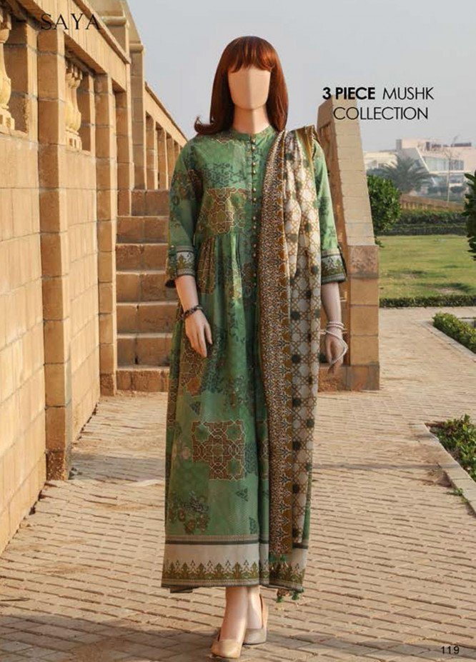 Saya Embroidered Lawn Suits Unstitched 3 Piece SY21SS SULTANATE (UG-2108-12A) - Spring / Summer Collection