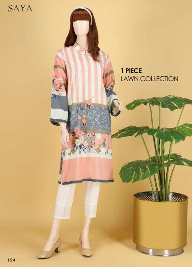 Saya Embroidered Lawn  Unstitched Kurties SY21SS SWANLEY SALVIA (UP-2103-06A) - Spring / Summer Collection