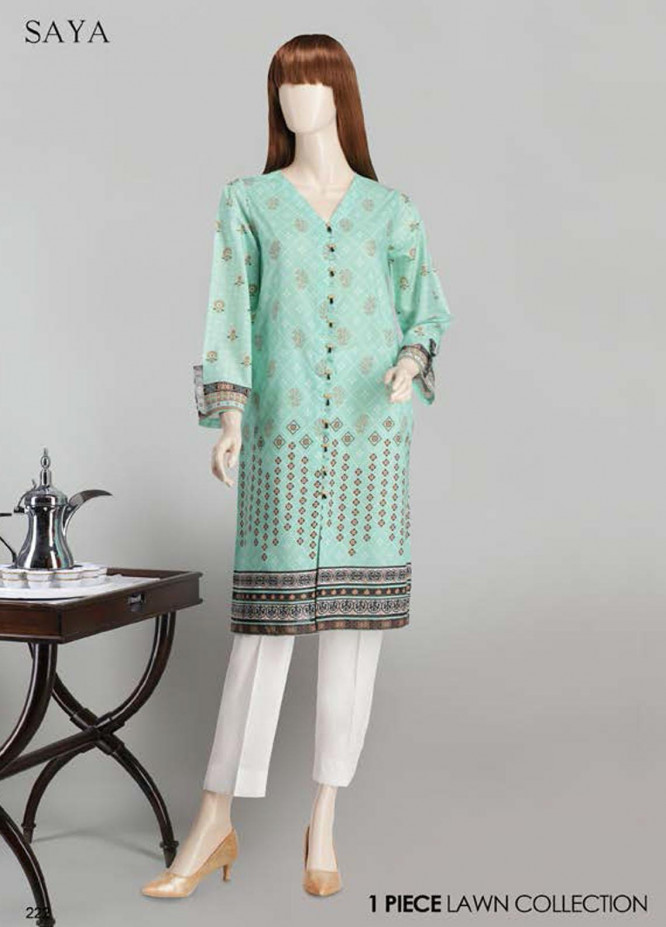 Saya Printed Lawn  Unstitched Kurties SY21SS RHYTHM (UG-2023-11E) - Spring / Summer Collection