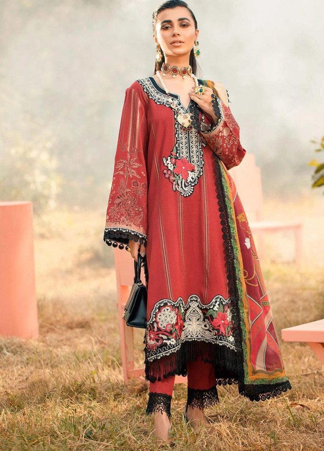 Seran Embroidered Viscose Unstitched 3 Piece Suit SRN20W 02 REGAL GLORY - Winter Collection