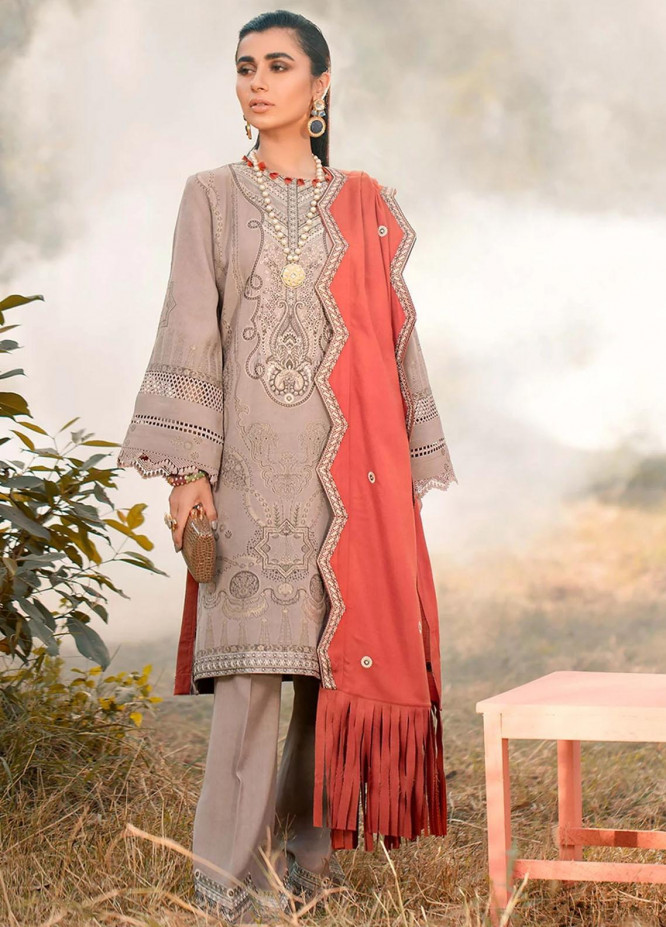 Seran Embroidered Viscose Unstitched 3 Piece Suit SRN20W 10 ETHINIC ALLURE - Winter Collection