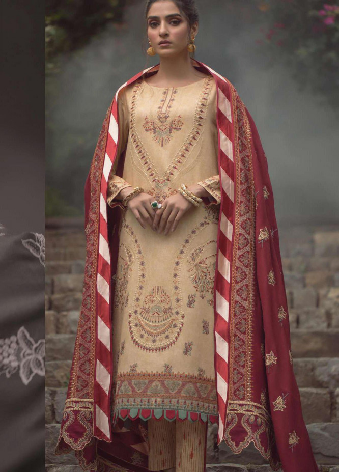 Madras by Serene Embroidered Cottel Unstitched 3 Piece Suit SP20M SK-03 AYANEH - Winter Collection