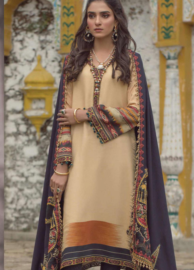 Madras by Serene Embroidered Cottel Unstitched 3 Piece Suit SP20M SK-10 AROOS - Winter Collection