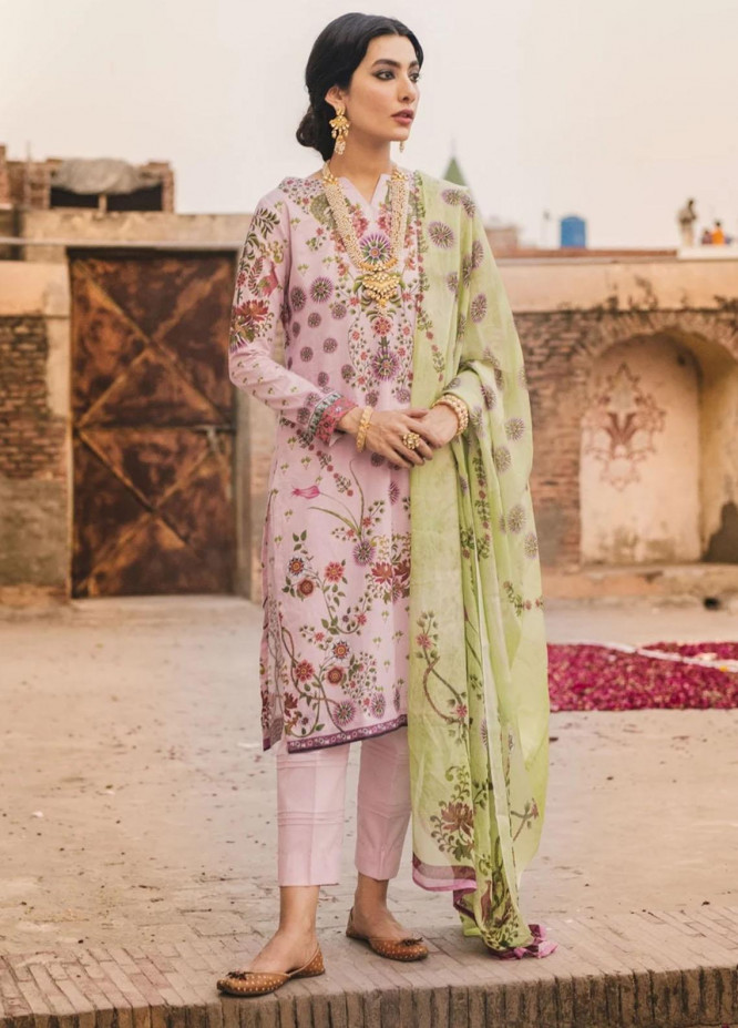 Eid Milan By Seroli Embroidered Lawn Suits Unstitched 3 Piece SRL21EM 01 Shahdab - Eid Collection