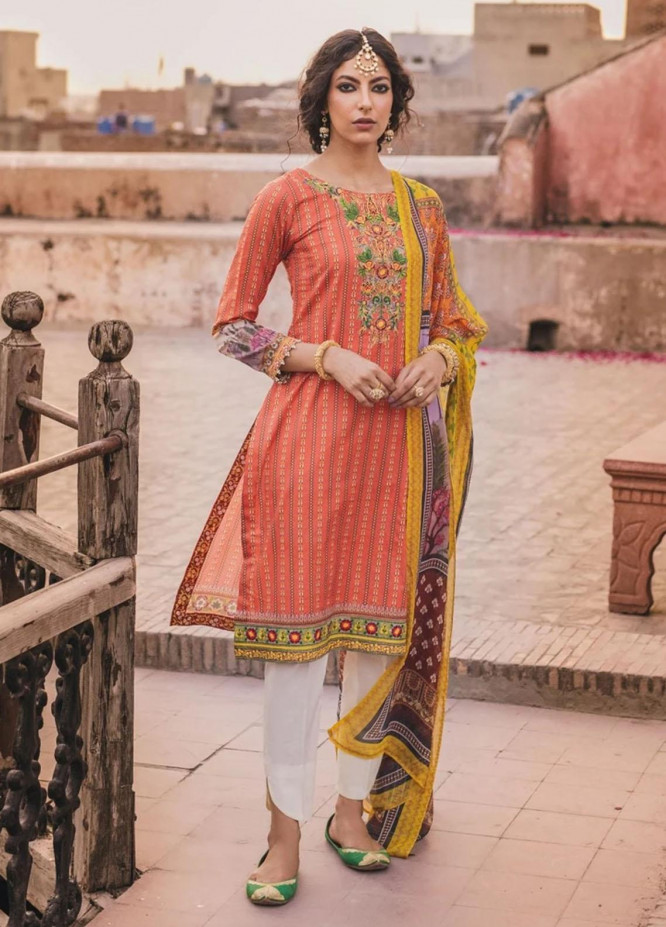 Eid Milan By Seroli Embroidered Lawn Suits Unstitched 3 Piece SRL21EM 02 Afroza - Eid Collection