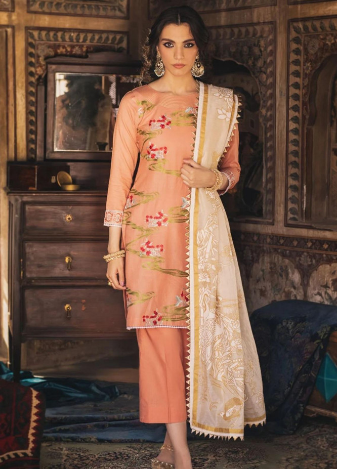 Eid Milan By Seroli Embroidered Lawn Suits Unstitched 3 Piece SRL21EM 03  Gul-e-Cina - Eid Collection