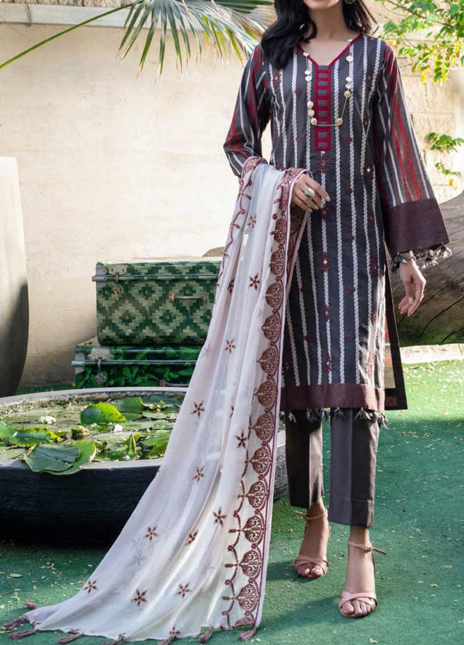 Shades Of Summer By Salitex Embroidered Lawn Suits Unstitched 3 Piece ST21SF 00696A - Festive Collection
