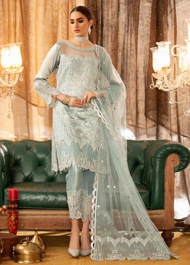 Shadmani by Sifash Embroidered Tissue Suits Unstitched 3 Piece SF21SL Misri - Festive Collection