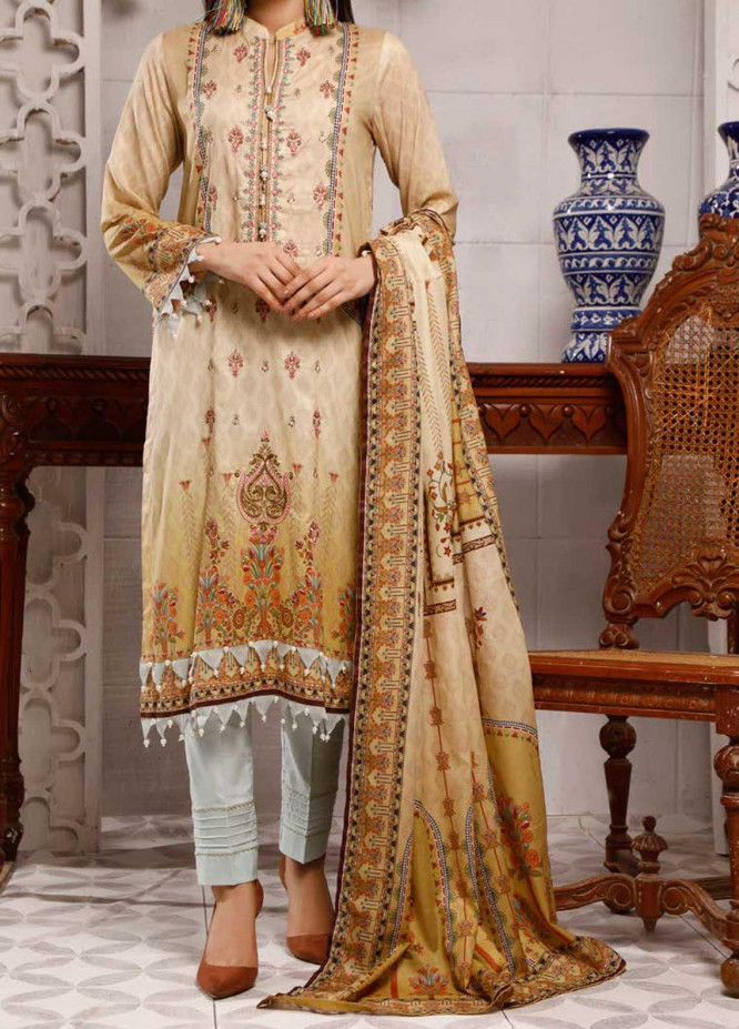 Shahkar by VS Textiles Embroidered Lawn Suits Unstitched 3 Piece VS21SK D-203 - Summer Collection