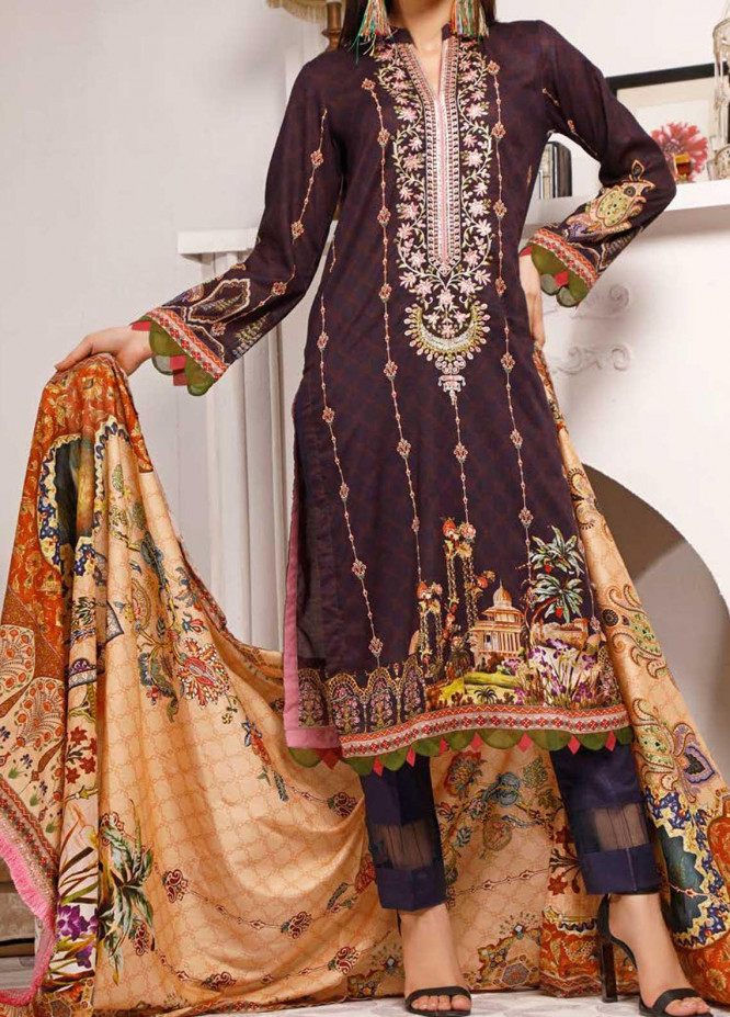 Shahkar by VS Textiles Embroidered Lawn Suits Unstitched 3 Piece VS21SK D-208 - Summer Collection