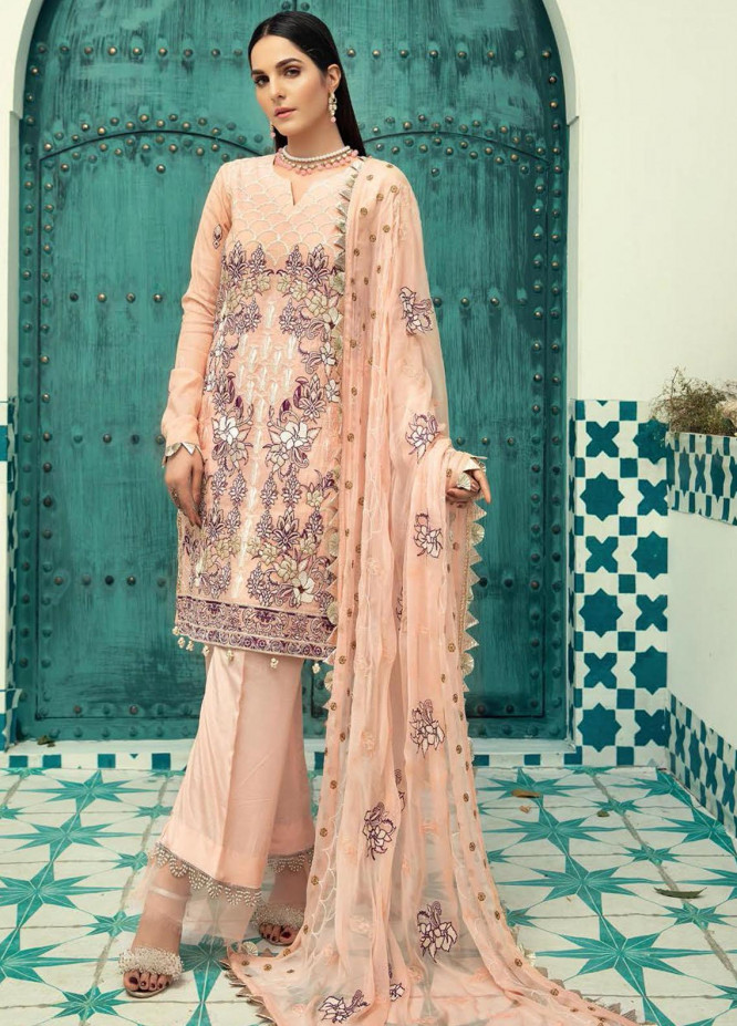 Shaista Embroidered Missouri Unstitched 3 Piece Suit SHT20LM 331 - Luxury Collection