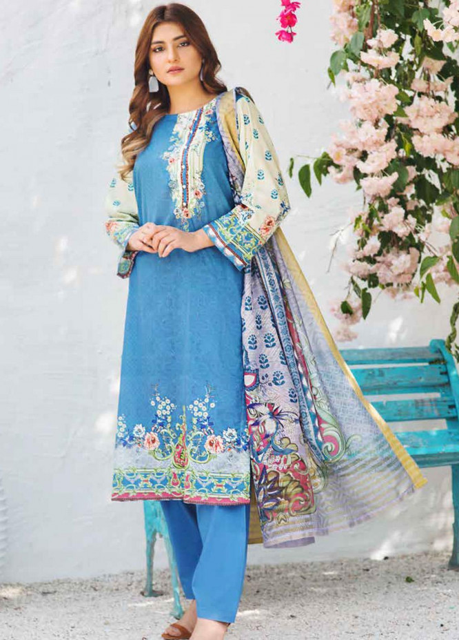 Shajar by Rashid Textiles Printed Lawn Unstitched 3 Piece Suit RD20S 1980 - Spring / Summer Collection