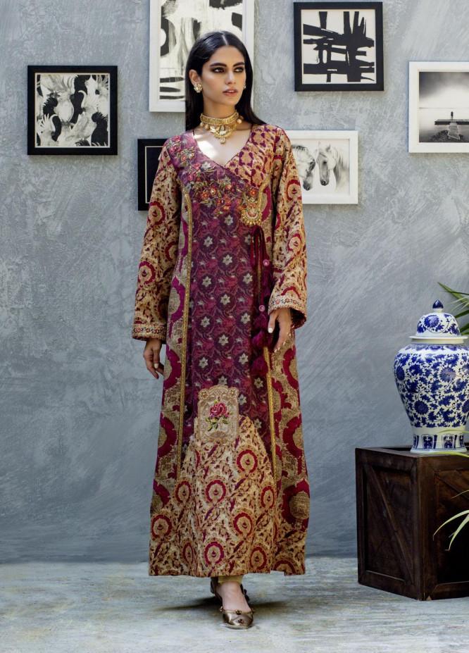 Shamaeel Ansari Luxury Pret  Silk Shirt SW-NV 6