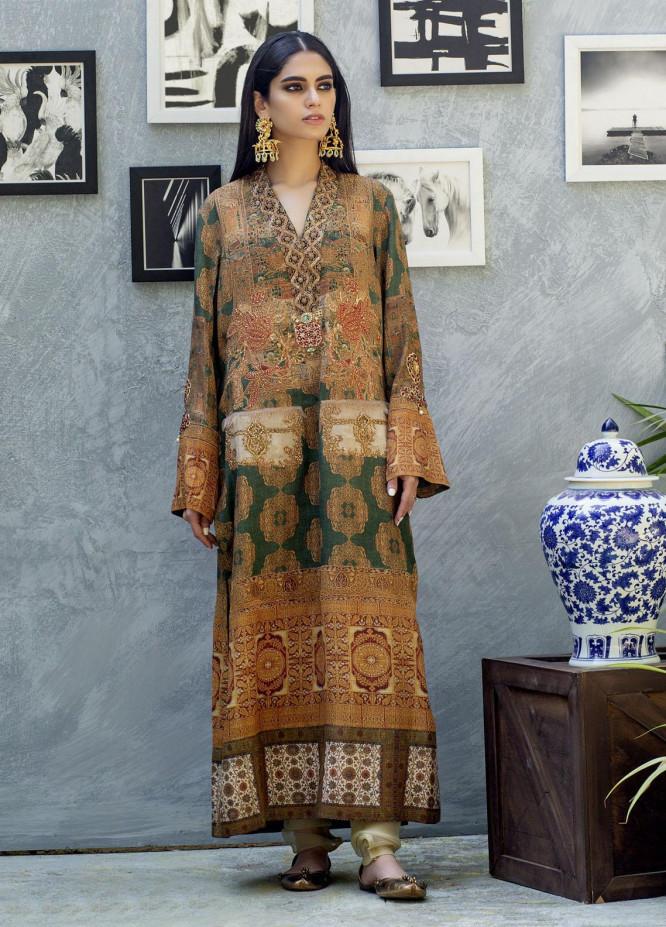 Shamaeel Ansari Luxury Pret  Silk Shirt SW-NV 14
