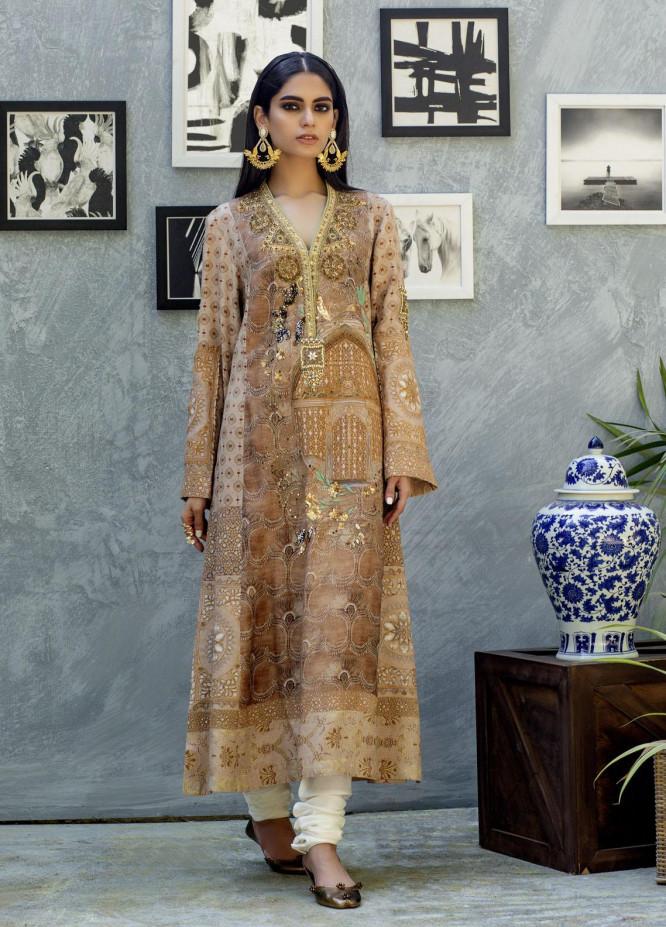 Shamaeel Ansari Luxury Pret  Silk Shirt SW-NVT 1