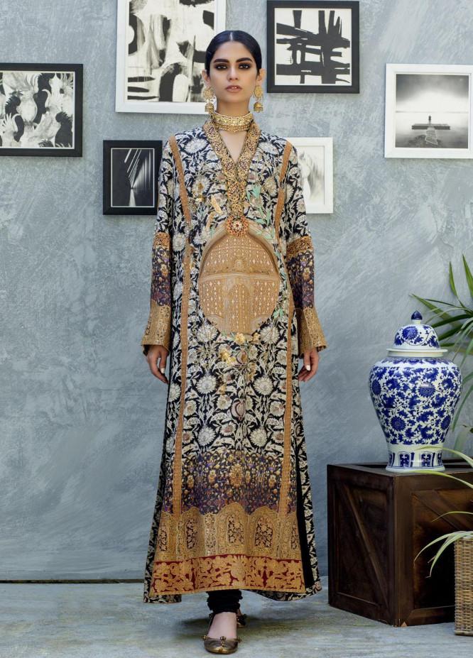 Shamaeel Ansari Luxury Pret  Silk Shirt SW-NVT 2