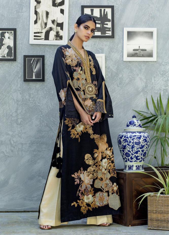 Shamaeel Ansari Luxury Pret  Silk Shirt SW-NV 7