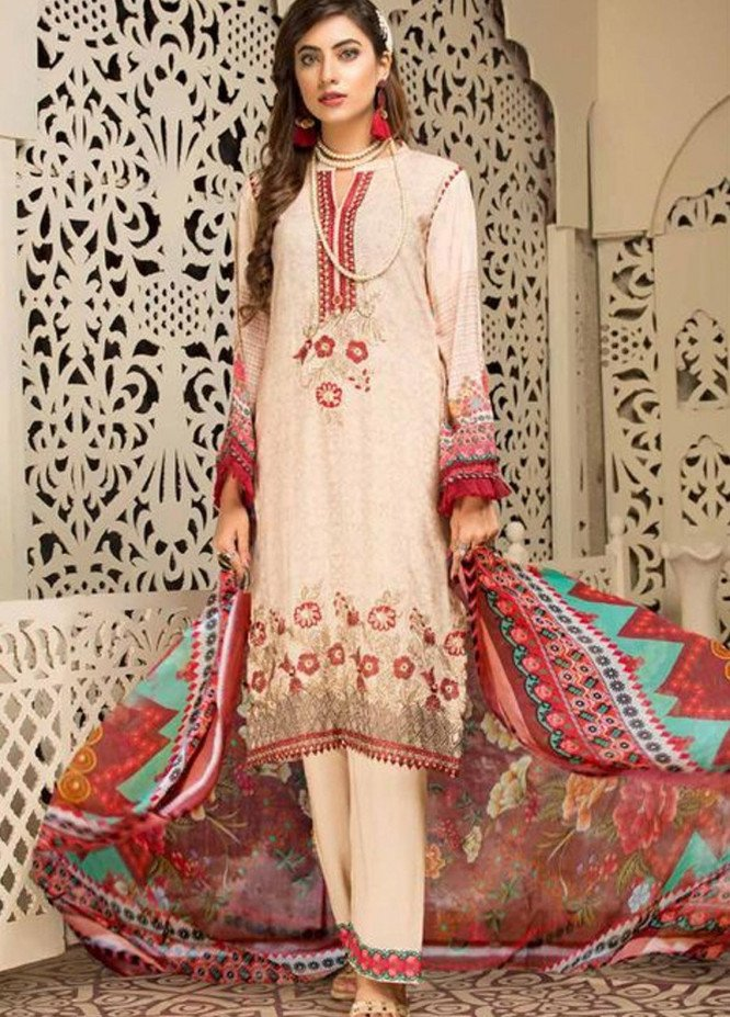 Shamira by Mohagni Embroidered Linen Unstitched 3 Piece Suit MO20-SH2 09 - Winter Collection