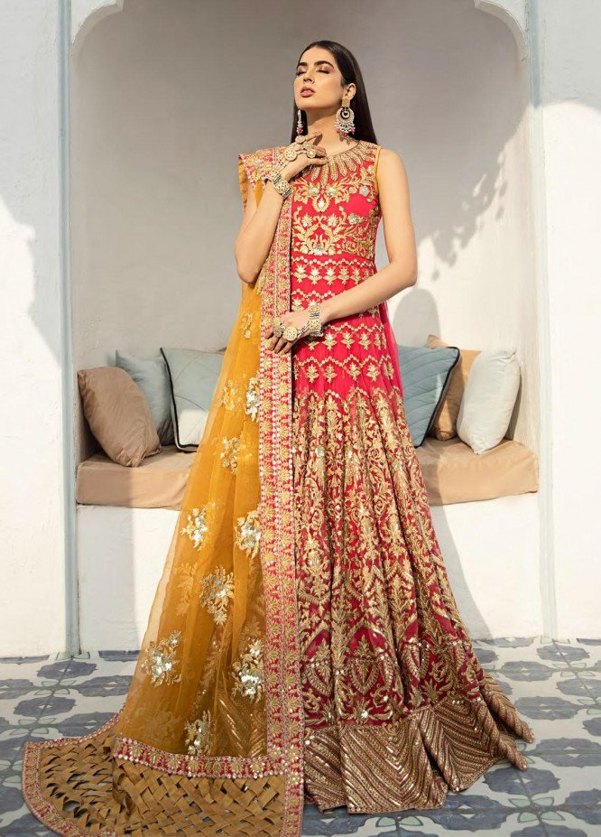 Shamrock Embroidered Organza Suits Unstitched 3 Piece SRK21P 02 Glowing Memories - Luxury Collection