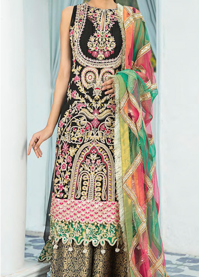 Shamrock Embroidered Chiffon Suits Unstitched 3 Piece SRK21P 08 Jolly Grand - Luxury Collection
