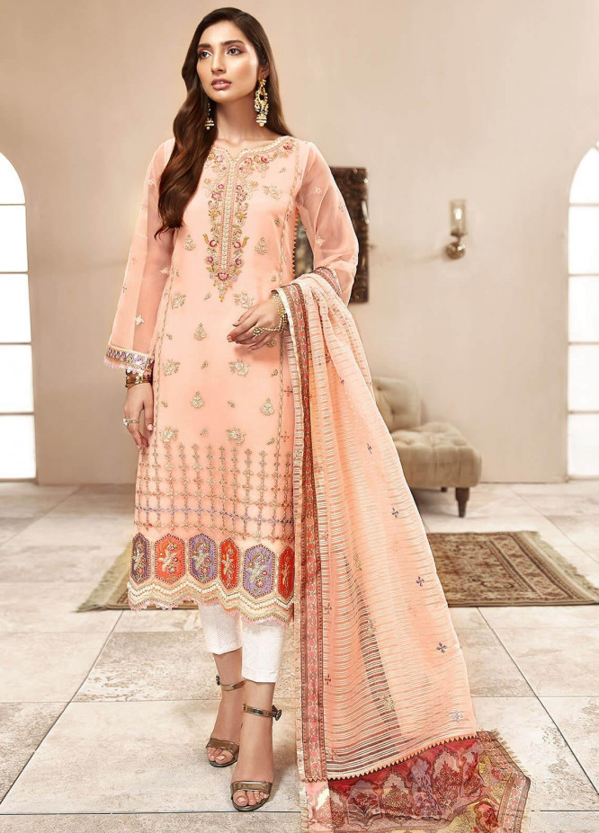 Shanaya by Saadia Asad Embroidered Organza Unstitched 3 Piece Suit SA20SH D1-A - Festive Collection