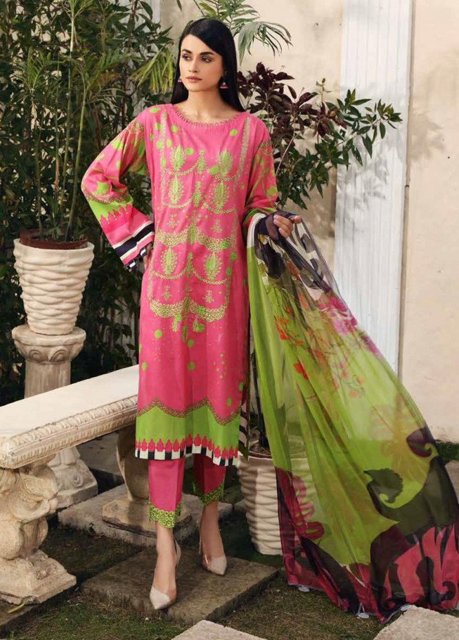Sheen by Charizma Embroidered Lawn Suits Unstitched 3 Piece CRZ21-SH2 19 - Summer Collection
