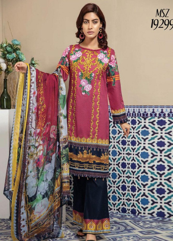 Master Fabrics Embroidered Lawn Unstitched 3 Piece Suit MF20SF 299 - Festive Collection