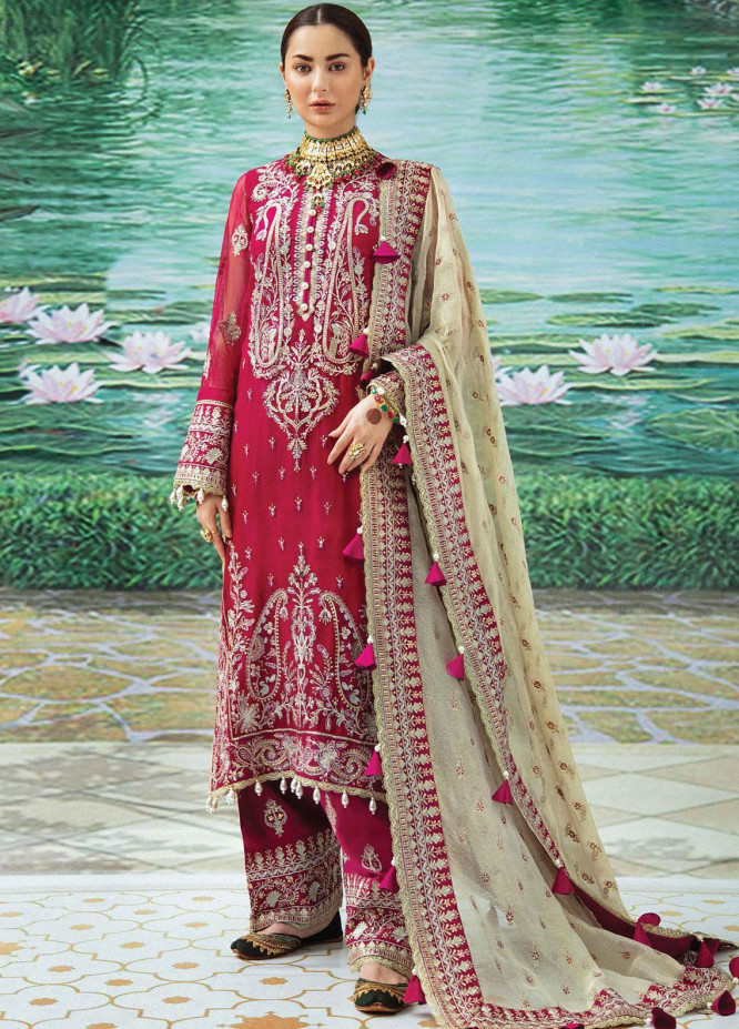 Shehnai by Afrozeh Embroidered Chiffon Suits Unstitched 3 Piece AF21SW 09 NELOFERI - Luxury Formals Collection