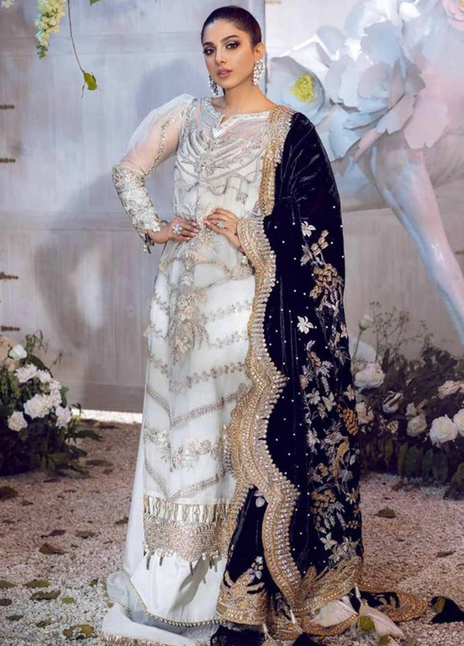 Shiza Hassan Embroidered Organza Unstitched 3 Piece Suit SH21LF 01 Regalia - Luxury Collection